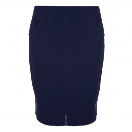 VERPASS NAVY TECHNO STRETCH PENCIL SKIRT  - Plus Size Collection