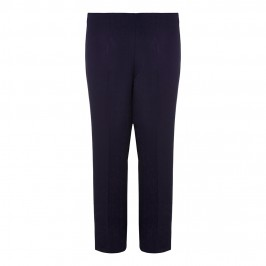 VERPASS straight leg NAVY elasticated waist winter weight TROUSERS - Plus Size Collection