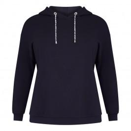 VERPASS HOODED SWEATSHIRT BLACK - Plus Size Collection