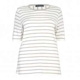 VERPASS sand striped TOP - Plus Size Collection