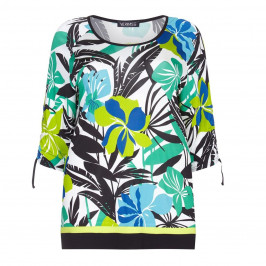 VERPASS floral print jersey TOP - Plus Size Collection