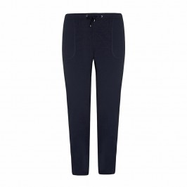 VERPASS navy leisure TROUSERS - Plus Size Collection