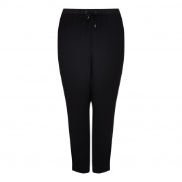 BEIGE LABEL BLACK DRAWSTRING TROUSERS - Plus Size Collection