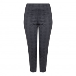 VERPASS CHECK pull-on TROUSERS - Plus Size Collection