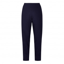 BEIGE PULL ON TROUSER NAVY - Plus Size Collection
