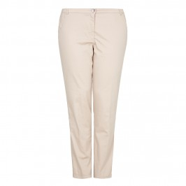 VERPASS beige straight leg stretch TROUSERS - Plus Size Collection