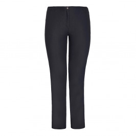 VERPASS NAVY COTTON MIX TROUSERS - Plus Size Collection