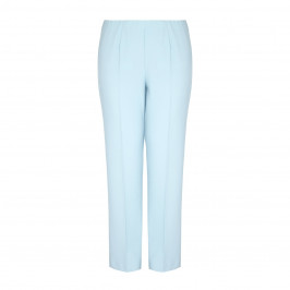 VERPASS pale blue straight leg TROUSERS - Plus Size Collection