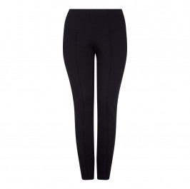 BEIGE BLACK NARROW LEG JERSEY TROUSERS - Plus Size Collection