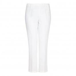 VERPASS ivory straight leg pull-on TROUSER - Plus Size Collection