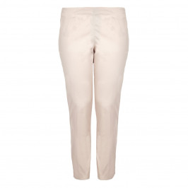 VERPASS STONE COTTON STRETCH NARROW LEG PULL ON TROUSERS  - Plus Size Collection