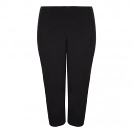 VERPASS black cropped TROUSERS with side embellishment - Plus Size Collection