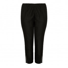 VERPASS black cropped trousers with ankle zips - Plus Size Collection