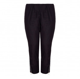 VERPASS dark denim cropped trousers with ankle zips - Plus Size Collection