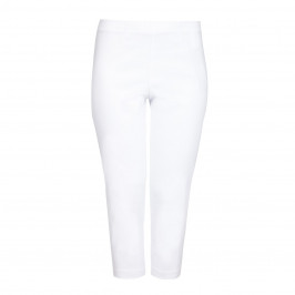 VERPASS white technostretch cropped Trousers - Plus Size Collection