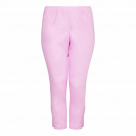 VERPASS pink cropped Trousers with pearl detailing - Plus Size Collection
