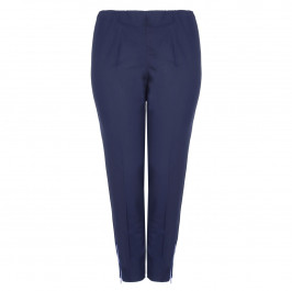 VERPASS DARK DENIM PULL ON TROUSERS WITH ZIP DETAIL  - Plus Size Collection