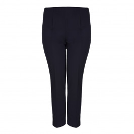 VERPASS NAVY NARROW LEG SUMMER WEIGHT TROUSERS - Plus Size Collection