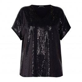 VERPASS SEQUIN TUNIC BLACK - Plus Size Collection