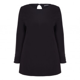 VERPASS trapeze cut black TUNIC with keyhole back detail - Plus Size Collection