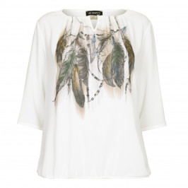 VERPASS feather print Tunic - Plus Size Collection