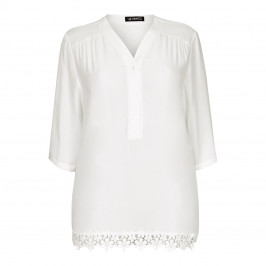 VERPASS lace trimmed white Tunic - Plus Size Collection