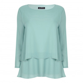 VERPASS aqua georgette layered Tunic - Plus Size Collection