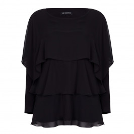 VERPASS black layered georgette Tunic - Plus Size Collection
