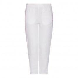 VETONO LINEN TROUSER WHITE - Plus Size Collection