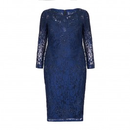 VIVIANA PETROL BLUE EVENING DRESS - Plus Size Collection