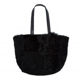 YOEK BLACK SHEEPSKIN BAG - Plus Size Collection