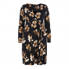 YOEK FLORAL PRINT WRAP DRESS - Plus Size Collection