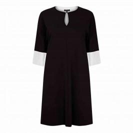 YOEK BLACK DRESS WITH WHITE CUFFS - Plus Size Collection