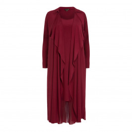 YOEK DRESS AND DUSTER COAT OUTFIT