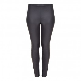 YOEK black stretch leather front LEGGINGs - Plus Size Collection