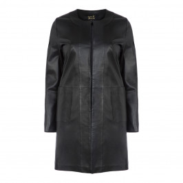 YOEK LONGLINE LEATHER JACKET - Plus Size Collection
