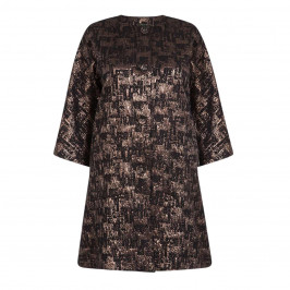YOEK BROCADE METALLIC JACKET - Plus Size Collection