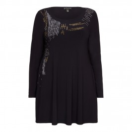 YOEK metal embellished TUNIC - Plus Size Collection