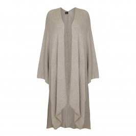 YOEK taupe cashmere and silk blend CAPE - Plus Size Collection