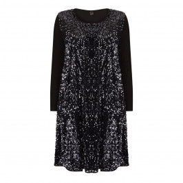 YOEK SEQUIN DRESS AND CARDIGAN BLACK - Plus Size Collection