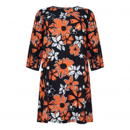YOEK FLORAL PRINT SHIFT DRESS - Plus Size Collection