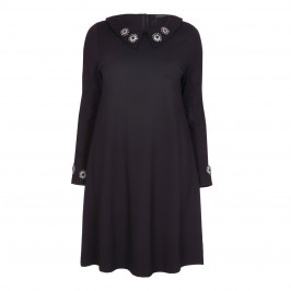 YOEK BLACK JEWEL EMBELLISHED DRESS - Plus Size Collection