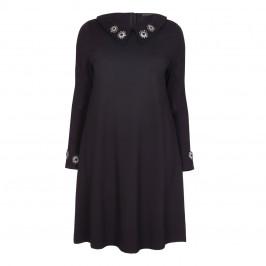 YOEK BLACK JEWEL EMBELLISHED DRESS - Plus Size Collection