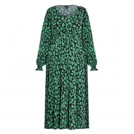 YOEK PRINT DRESS EMERALD