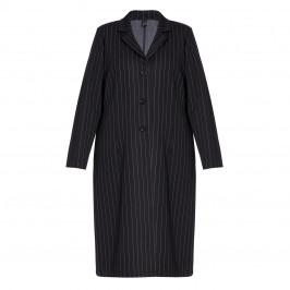 YOEK LONG PINSTRIPE JACKET BLACK - Plus Size Collection