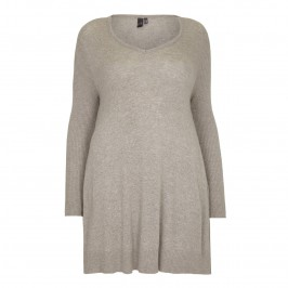 YOEK taupe fine knit Tunic - Plus Size Collection