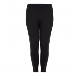 Yoek Black Leather Panel Legging - Plus Size Collection