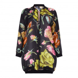 YOEK MULTICOLOUR FLORAL PRINT JACKET &VEST - Plus Size Collection