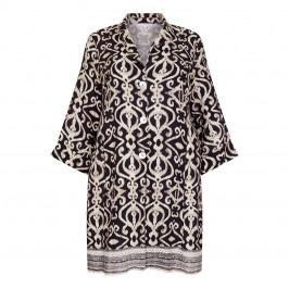 YOEK LINEN TILE PRINT BLAZER BLACK AND WHITE - Plus Size Collection