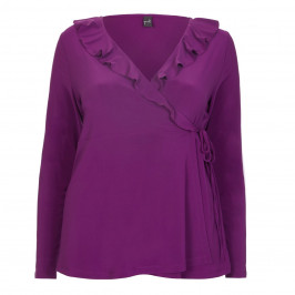 YOEK CROSSOVER RUFFLE TOP - Plus Size Collection